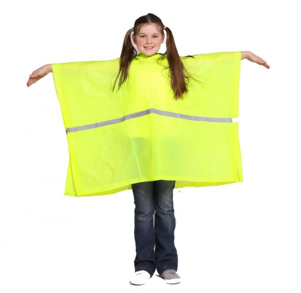 Child Waterproof Rain Poncho suit 6-10yrs Reusable Deluxe PVC High Vis 2