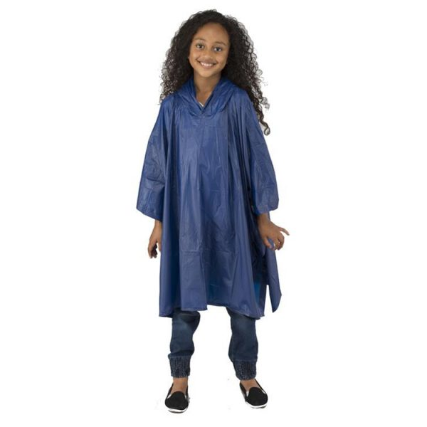 Childs-Waterproof-Rain-Poncho-EVA-Reusable-Blue