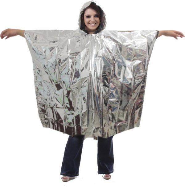 Emergency Silver Foil Poncho