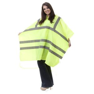 High-Visibility-Adult-Waterproof-Rain-Poncho-PU-Coated-Nylon-Yellow
