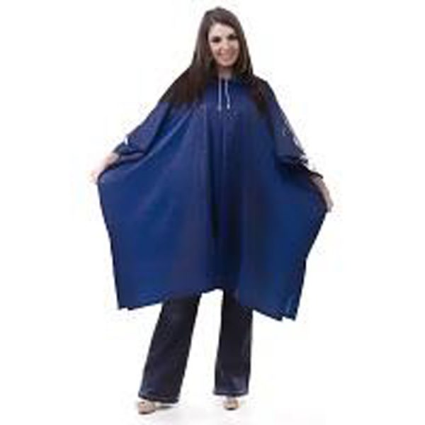 Waterproof-Adult-Rain-Poncho-blue