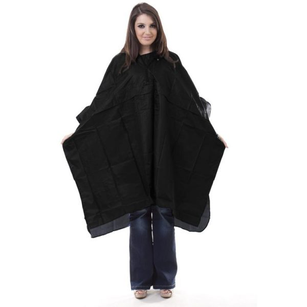 Waterproof-PU-Coated-Nylon-Rain-Poncho-Black