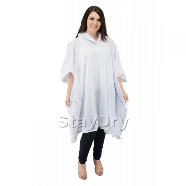 White adult poncho
