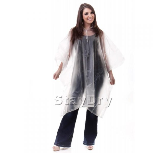 reusable emergency transparent emergency rain poncho