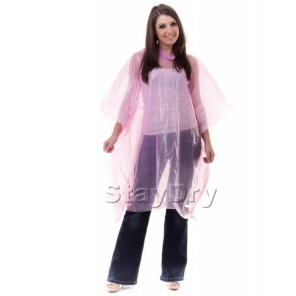 rain-poncho-pe-disposable-pink